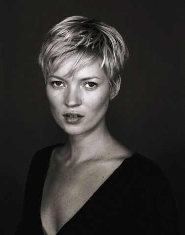 Really like Kate Moss with short hair.