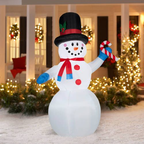 7' Inflatable Snowman Airblown Christmas Decoration Outdoor Yard Holiday Decor