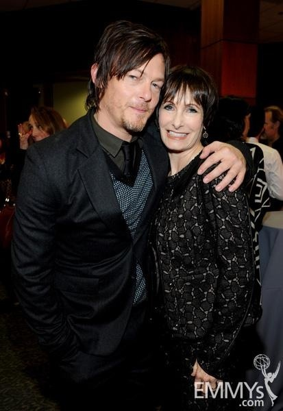 Stop posing with other women, Norman. :( Norman Reedus & Gale Anne Hurd