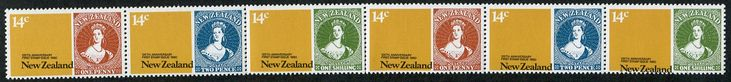 #327022    NZ Error 1980 14c Stamp Anniversary strip 6 with black shift left to right & angle high to low, fine in strip ...All Items are available for Direct Sale unless stated otherwise, you can email us directly via the below Contact Us Link or you can place an order via our web site www.completestamp.com or simply click the item Link above. All items are Guaranteed to meet description, Payment options include Direct Credit, Paypal, Visa, Mastercard, Cash. Postage and Insurance options…