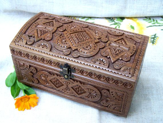 Jewelry box Wooden box Carved wood box Ring box by HappyFlying, $50.00 – Декупаж мебель