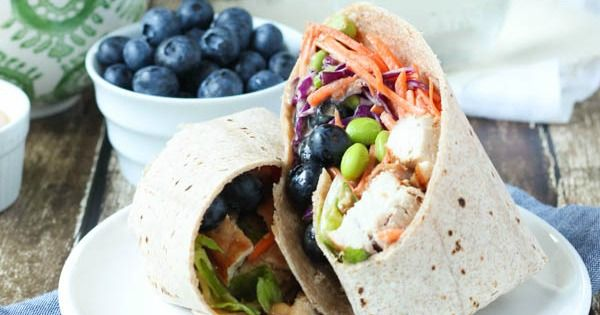 Thai Chicken Salad Wrap with Blueberries - Spoonful of Flavor....minus the chicken.