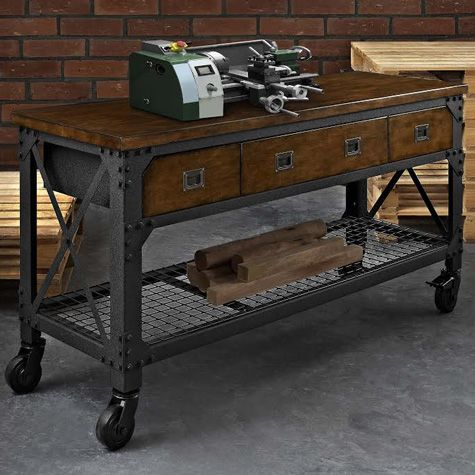 Whalen Industrial Metal And Wood Workbench Costco Uk