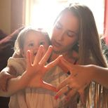 """At home with Jemima Kirke & Rafaella. """"In order of importance: 1.Self, 2. Marriage, 3. Child. Of course all are as important as each other, but neglecting the one before is a disservice to the one after."""""""