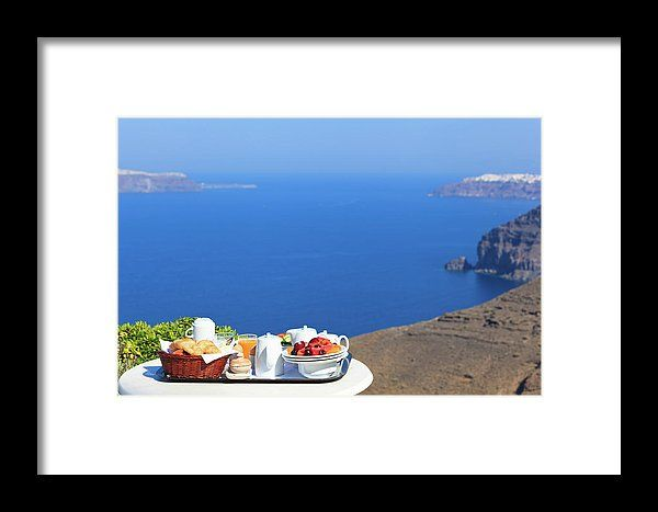 Breakfast Framed Print featuring the photograph Delicious Breakfast By The Sea by NadyaEugene Photography
