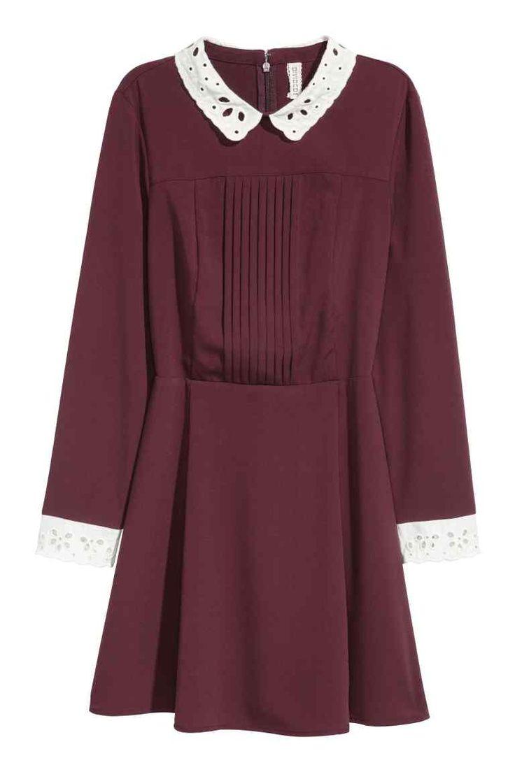 Bordeaux rode glitter jurk