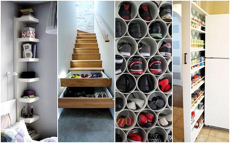 30 гениальных идей как увеличить пространство в вашем доме  #ванная #декор #дизайнинтерьера #идеи #квартира #кухня #прихожая #спальня