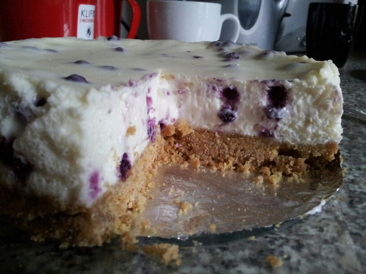 Double the base on a cheesecake for more crunch :) this one is blueberry x