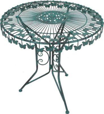 Metall Tisch Schmetterling Gartentisch Beistelltisch Antik Grün Garten  Balkon Jetzt Bestellen Unter: ...