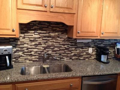 American Olean Chateau Emperador Mixed Material Stone And