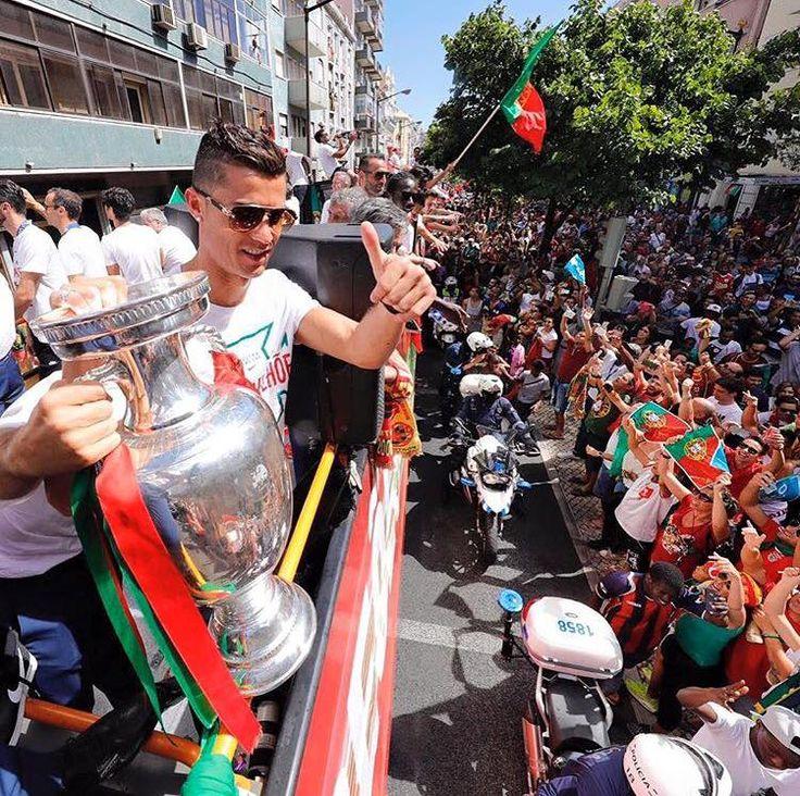 Ronaldo, celebrating in Portugal. #euro2016 #cr7