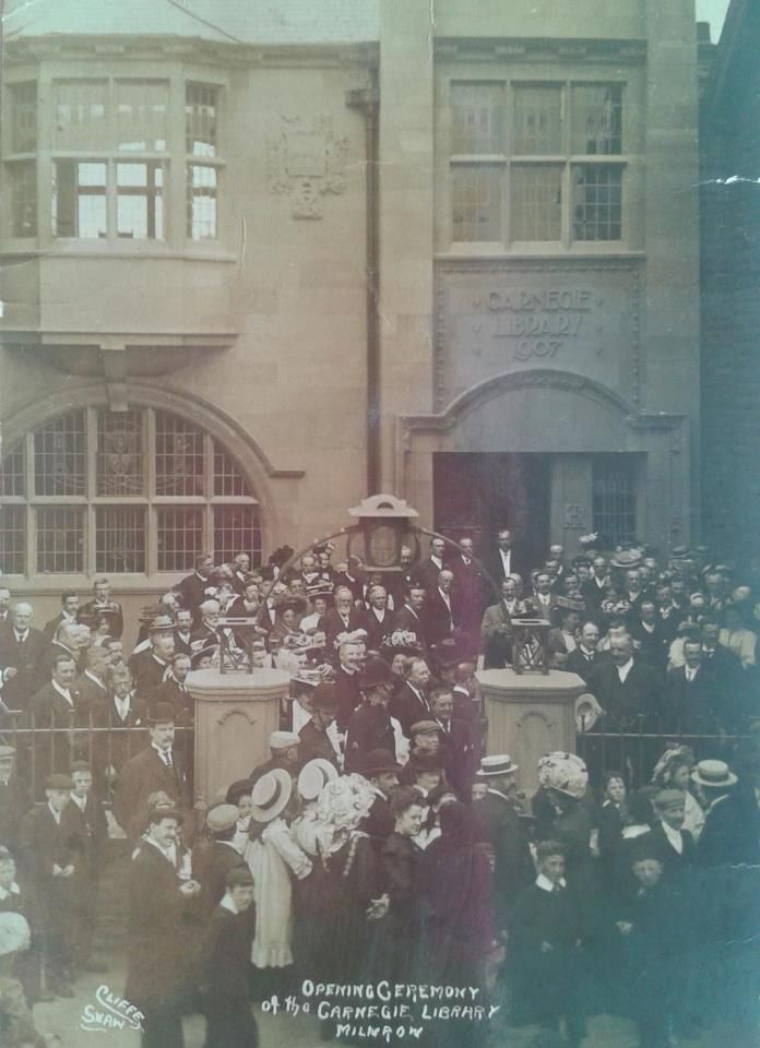 Opening of the Carnegie Library, Milnrow 1907.