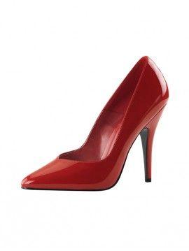 PLEASER - ESCARPINS ROUGES VERNIS SEDUCE-420V - #chaussures #escarpin #Talonhaut #HautTalon #vernis #PleaserUSA #Paris #foxyladyparis