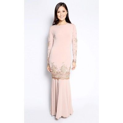 Crown Kurung in Nude