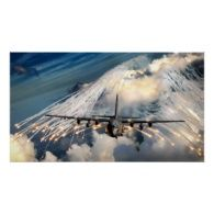 AC-130 U Hercules Gunship Aircraft Posters ... firing off countermeasure flares.  Available on t-shirts and mouse pads too.