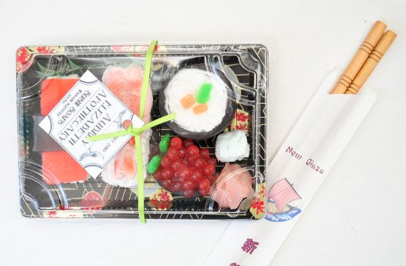 Sushi Soap Gift Set Valentine Ginger by AubreyEApothecary