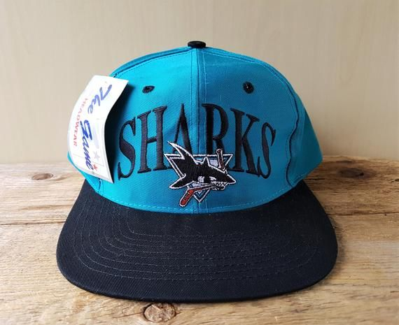 2d70801b San Jose SHARKS Vintage 90s Snapback Hat The GAME Official Licensed NHL  National Hockey League Baseball Cap Deadstock 2 Tone Retro Ballcap