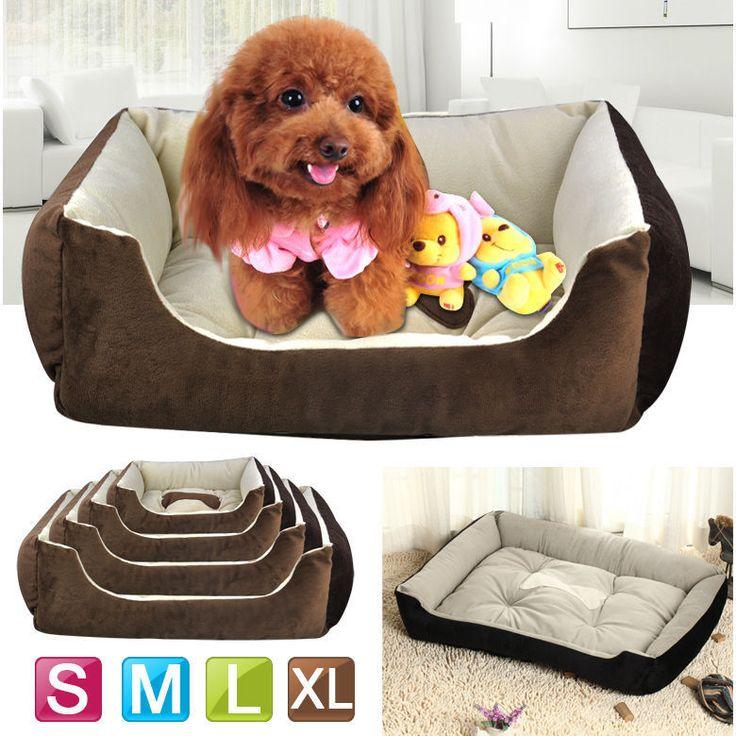 New Warm Soft Fleece Pet Dog Kennel Dog Cat Puppy Bed Mat Pad House Cushion #UnbrandedGeneric