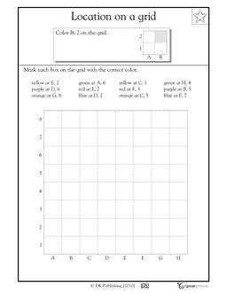 Coloring a grid #1 - Worksheets & Activities   GreatSchools More