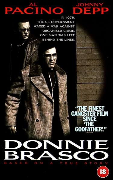 """Donnie Brasco""... based on a true story of an undercover cop infiltrating the mob and empathizing with that coterie of new friends and lifestyle. Starring Al Pacino & Johnny Depp"