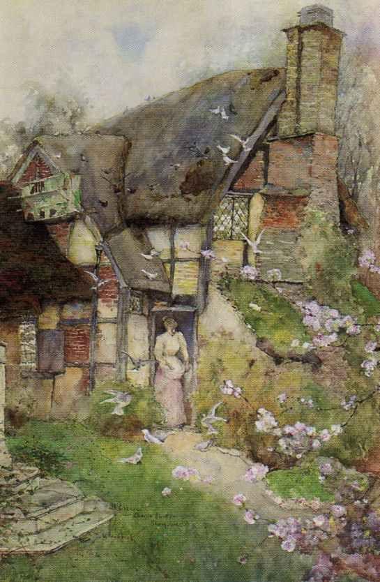 David Woodloc An Old Cottage Near Church Stretton Shropshire