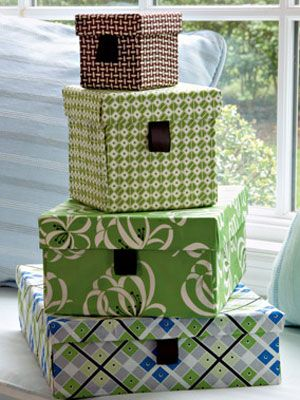 DIY fabric covered boxes - saw this cool idea before but this spot has instructions. Not craft-savvy girl needs instructions.
