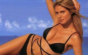 Young Heidi Klum in Black Biki... is listed (or ranked) 7 on the list 21 Pictures of Young Heidi Klum