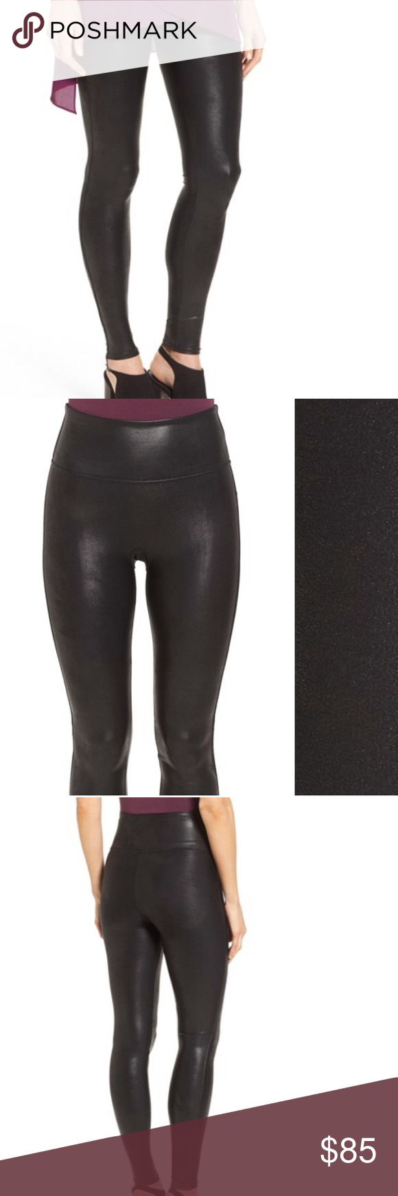 Spanx faux leather leggings (authentic) Spanx ready to wow faux leather leggings. NWT size large! Black... The absolute best faux leather leggings you will ever find! ONLY selling because I have two larges now SPANX Pants