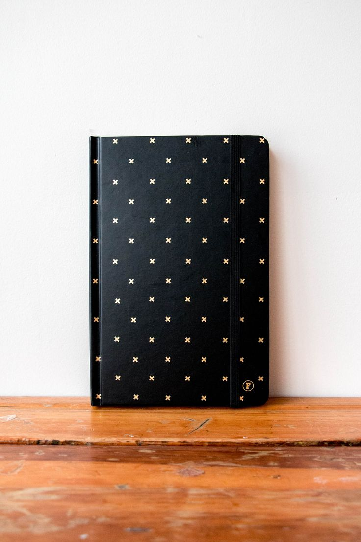 Black/Gold Journal http://www.frankstationery.com/collections/journal