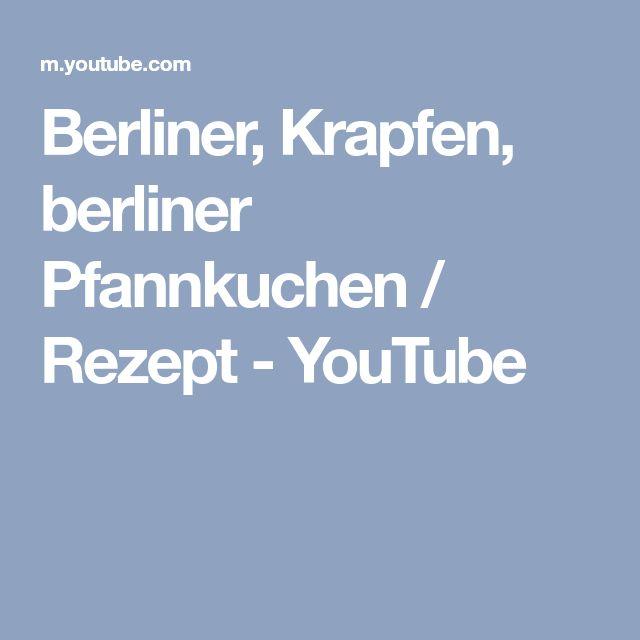 Berliner, Krapfen, berliner Pfannkuchen / Rezept - YouTube