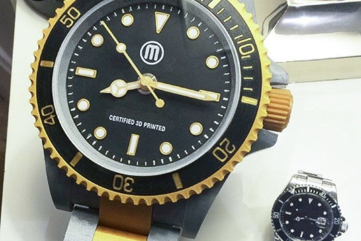 Guy 3D Prints Excellent, Massive Rolex Submariner Watch: A True Desk DiverMore great watches at: http://vintagewatchesdepot.com