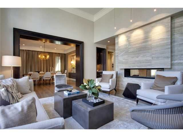 Contemporary living room cool stone grey and beige Modern big living room ideas