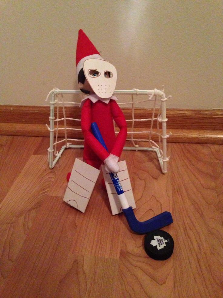 Elf on the Shelf ideas. Hockey Elf