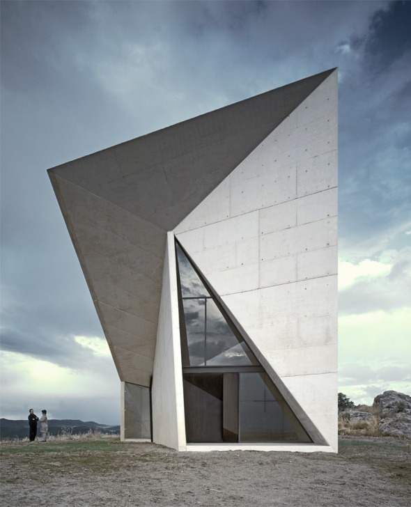 Valleaceron Chapel by S-M.A.O, Almadenejos, Ciudad Real, Spain