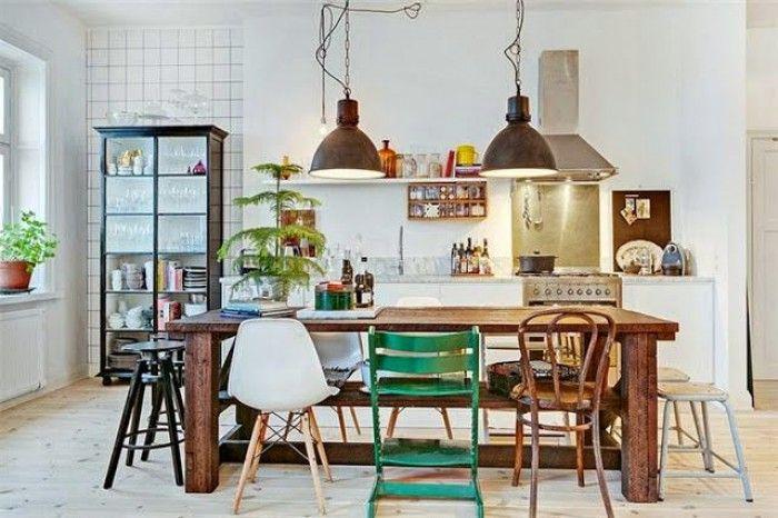 Industrieel interieur - scandinavisch interieur - industriële woonkamer eetkamer