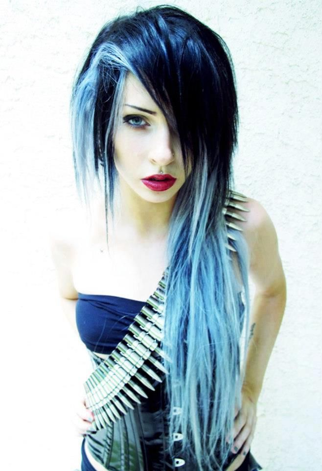 Light blue mixed with dark blue hair | Hairstyles ...