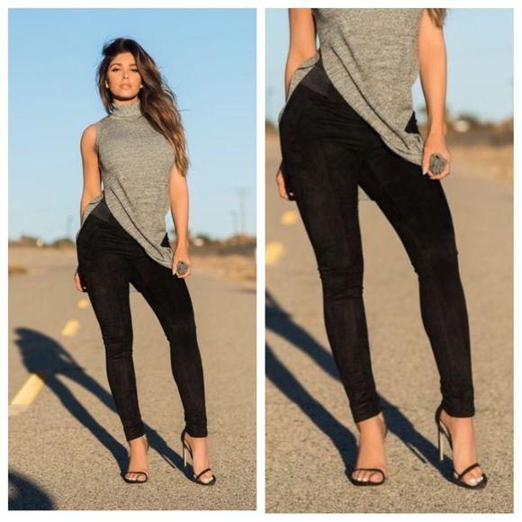 Skinny Leg Black Velvet Corduroy Legging New Boutique  Skinny Leg Black Velvet Corduroy •Size Medium •Spandex Bum Lift Design •2 Back Pockets Boutique  Pants Leggings