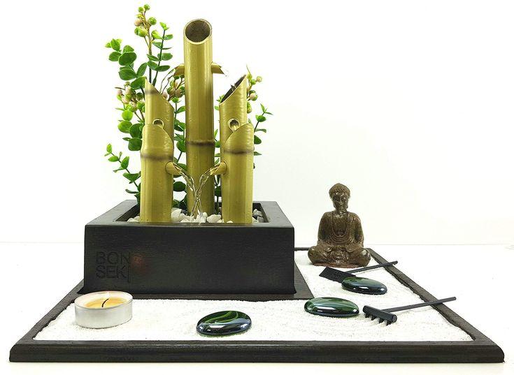 Bonseki? Fontana zen Elegance, Giardino zen da tavolo con