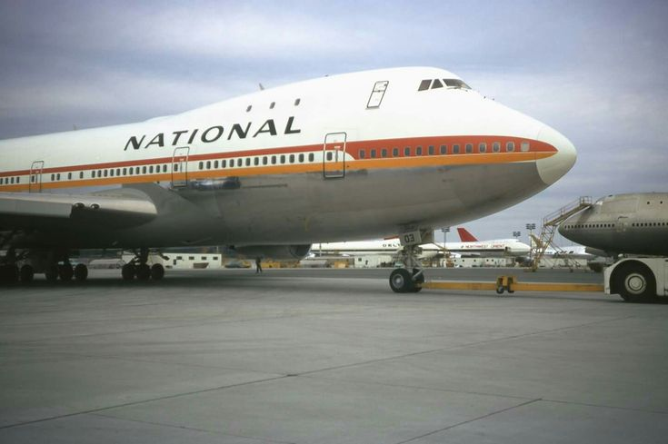 National Airlines, B747, Boeing Everett, 1970, Photographer unknown, Slide from personal collection.