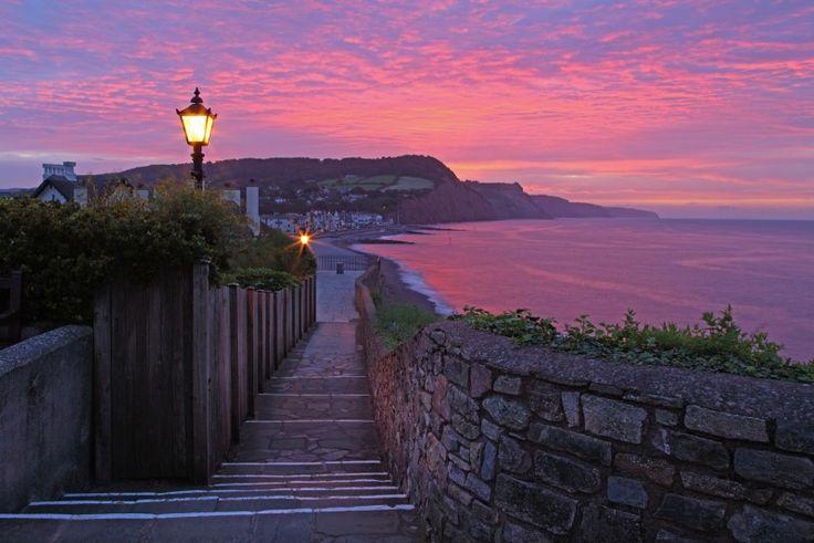 Summer sunrise at Sidmouth, Devon