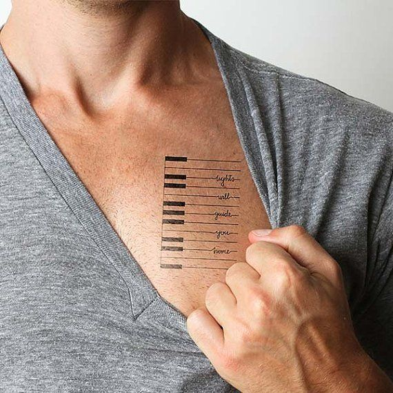 Fancy - Coldplay Lyrics Temporary Tattoo Piano Quote (Set of 2)