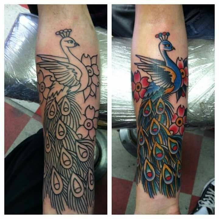 17 best images about new tattoo on pinterest pegasus for Traditional peacock tattoo