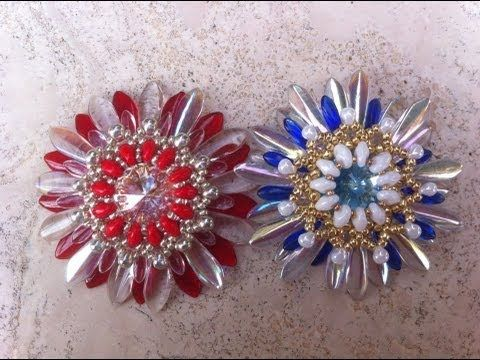 Video:  Super duos and daggers. Ciondolo Fiore dell'amicizia.   Not English.  #Seed #Bead #Tutorials