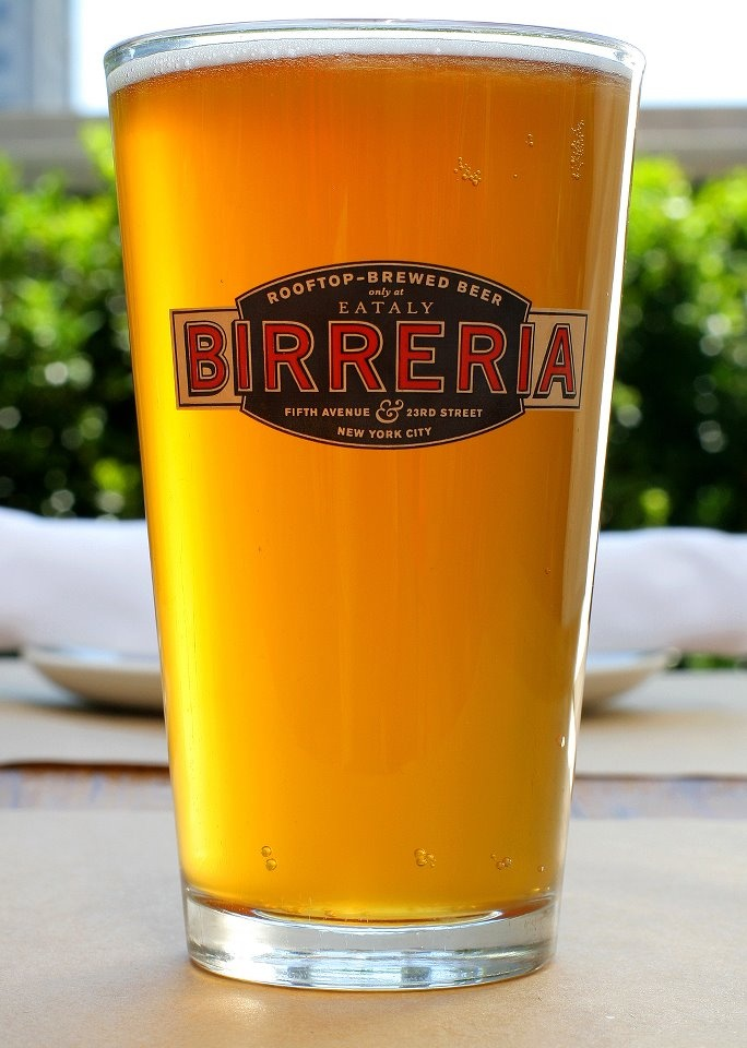 An ice cold pour at Birreria