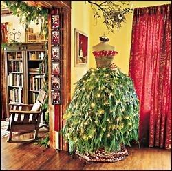 Mannequin Christmas tree! {love this idea; gotta find me an old dress form and pick up those free artificial trees at yard sales and get to work}