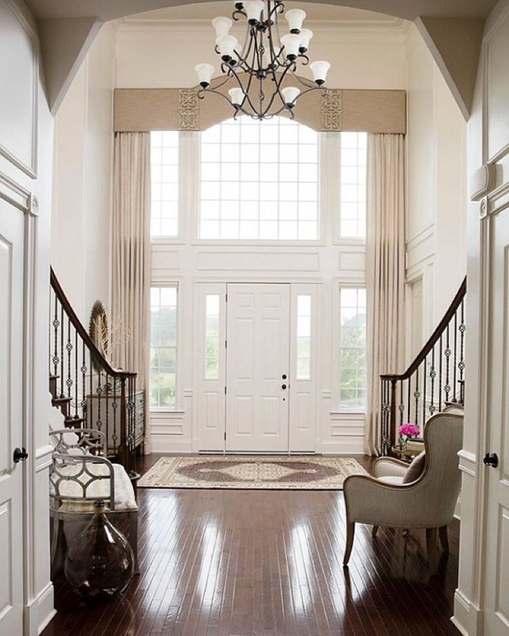 Open Foyer Window Treatments : Best front entrance images on pinterest entry hall