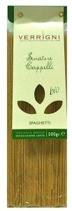 Pasta Spaghetti Bio Trafila Bronzo - Verrigni Valentini - Ingredienti: semola di grano duro da agricoltura biologica, acqua.
