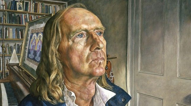 Sir John Tavener 2001 Oil on canvas 112cmx81cm, by Michael Taylor, courtesy of the National Portrait Gallery