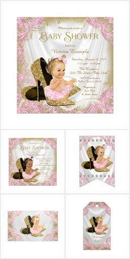Pink Gold High Heel Baby Shower