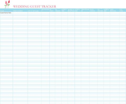442 best Templates\Forms images on Pinterest Role models - wedding guest list template